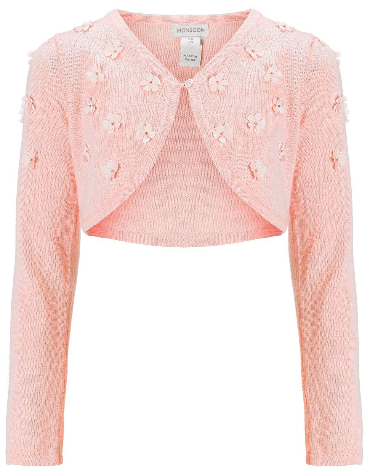 Javana Chiffon Flower Cardigan | Pink | Monsoon | Cooking ...