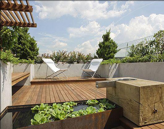 Modern Rooftop Patio Gardens Revive Landscape Design