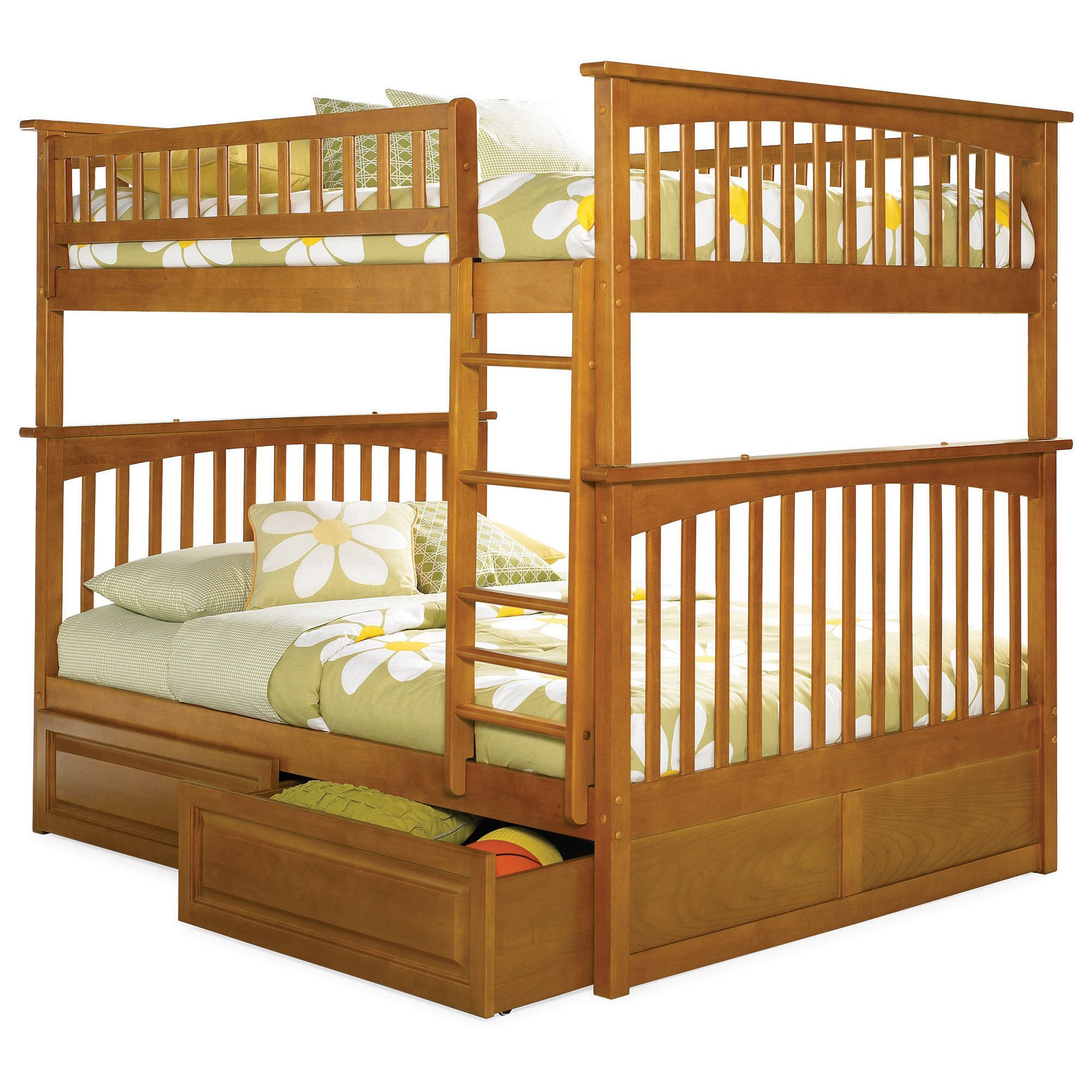 Columbia Bunk Bed Full over Full with Raised Panel Bed