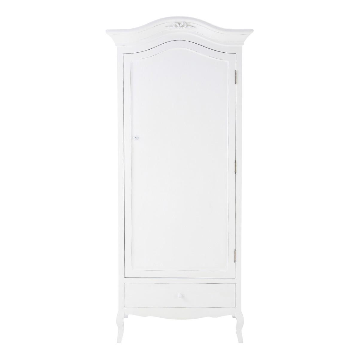 Wooden wardrobe in white W 90cm | Armoires en bois, Bois blanc et ...