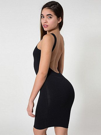 Cotton Spandex Jersey Scoop Back Tank Dress  066883ec5