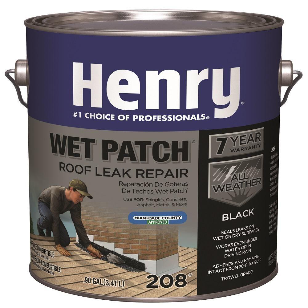 Henry Henry 208 Wet Patch Roof Cement Leak Repair 0 90 Gallon He208142 The Home Depot In 2020 Leak Repair Roof Cement Roof Leak Repair