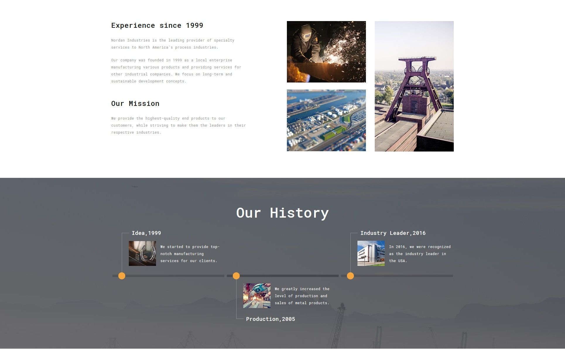 Nordan Industrial Ready To Use Modern Novi Html Website Template