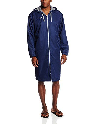 053ec43ef Speedo Men's Team Unisex Swim Parka, Navy, Medium | Clothing Fashion ...