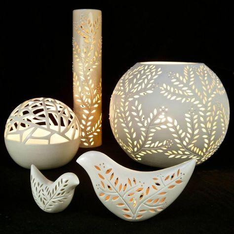 Lecture d 39 un message mail orange porcelaine pinterest poterie photophore et raku - Idee de poterie ...