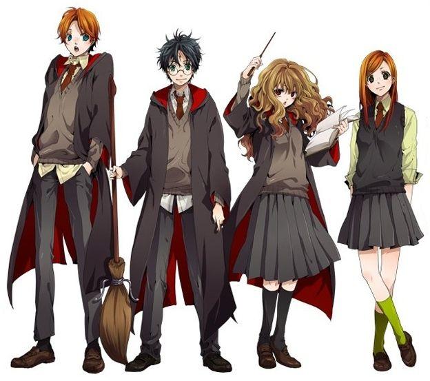 Harry Potter Anime Harry Potter Anime Harry Potter 28130810 624 553 Jpg Harry Potter Anime Harry Potter Cartoon Harry Potter Fan Art