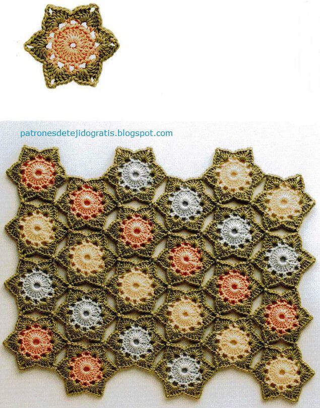 Esquemas de motivos crochet | PUNTOS GANCHILLO | Pinterest ...