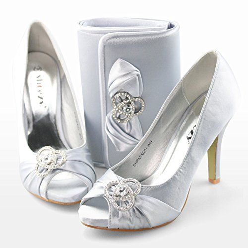 Matching Silver Bridal Pump And Bag