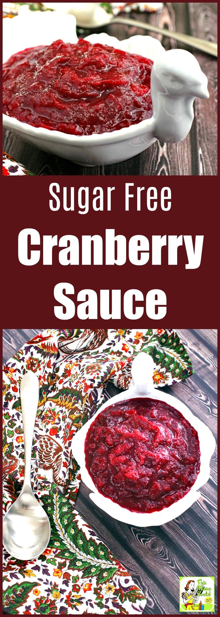 Make a batch of Sugar Free Cranberry Sauce for Thanksgiving. This keto cranberry sauce is fine for those on low carb or paleo diets, too. This no-sugar cranberry sauce recipe can be made with Swerve or powdered monk fruit sweetener. #recipeoftheday #easyrecipe #easyrecipes #cranberries #keto #ketorecipes #ketodiet #paleo #paleodiet #lowcarb #lowcarbrecipes #lowcarbdiet #sugarfree #cranberry #cranberries #Thanksgiving #cranberrysauce