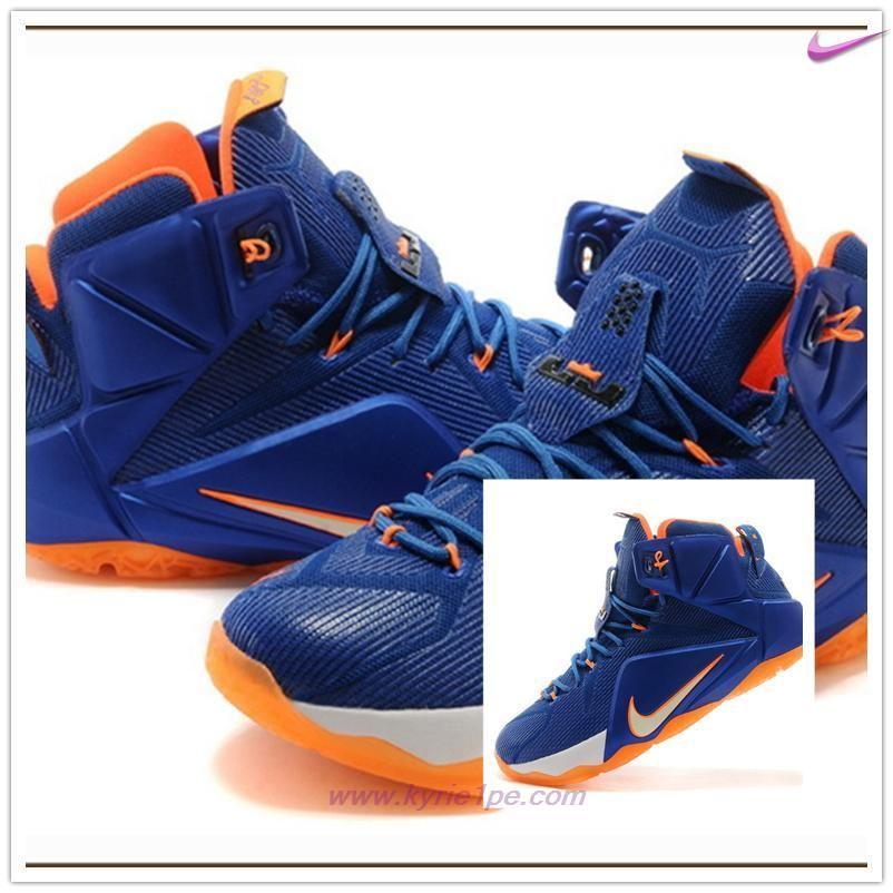 650884-012 Sapphire Blu/Arancione Giallo Nike Lebron 12 P.S. Elite Uomo