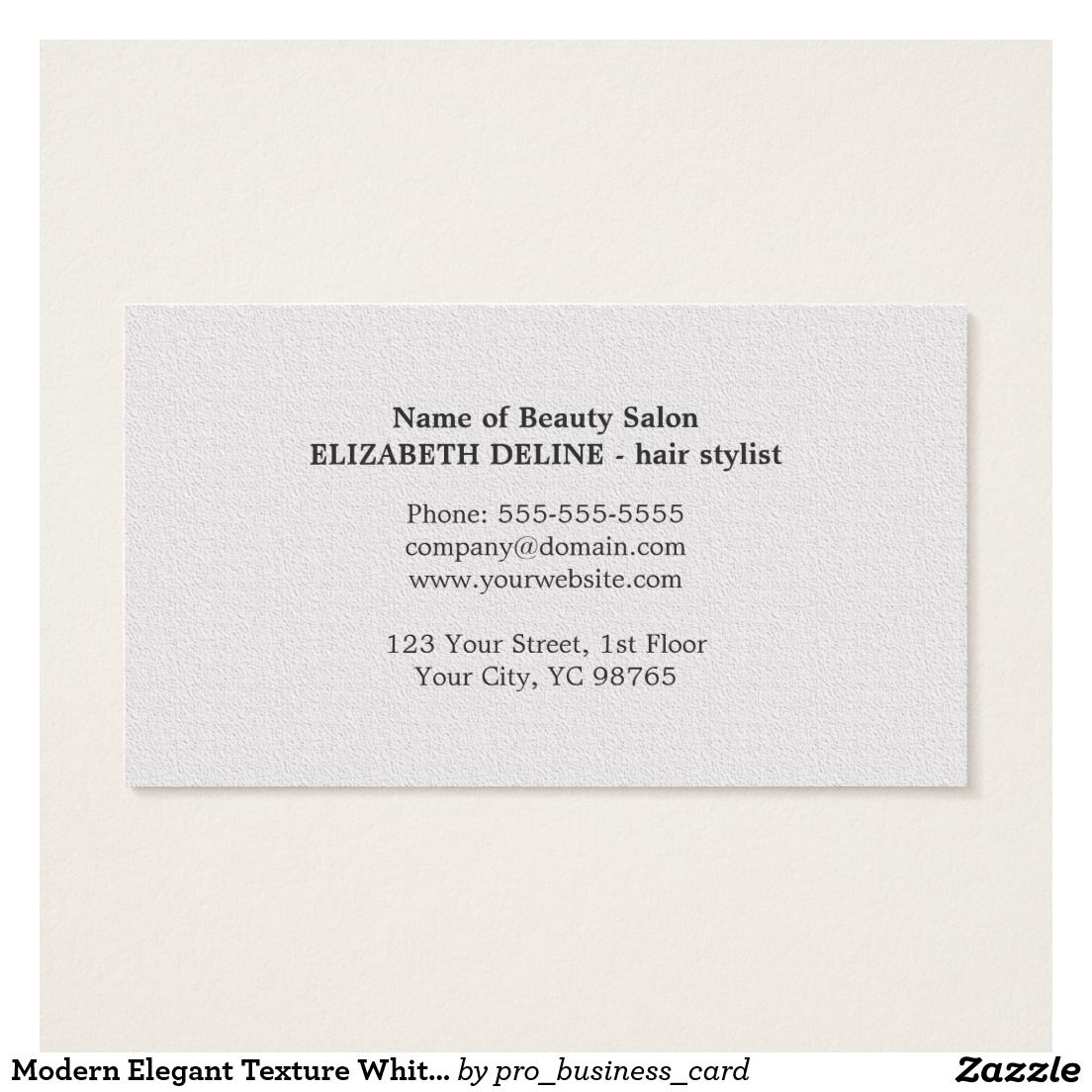 Cool Elegant Business Card Template With Unique Texture White Background And Scissor Pattern