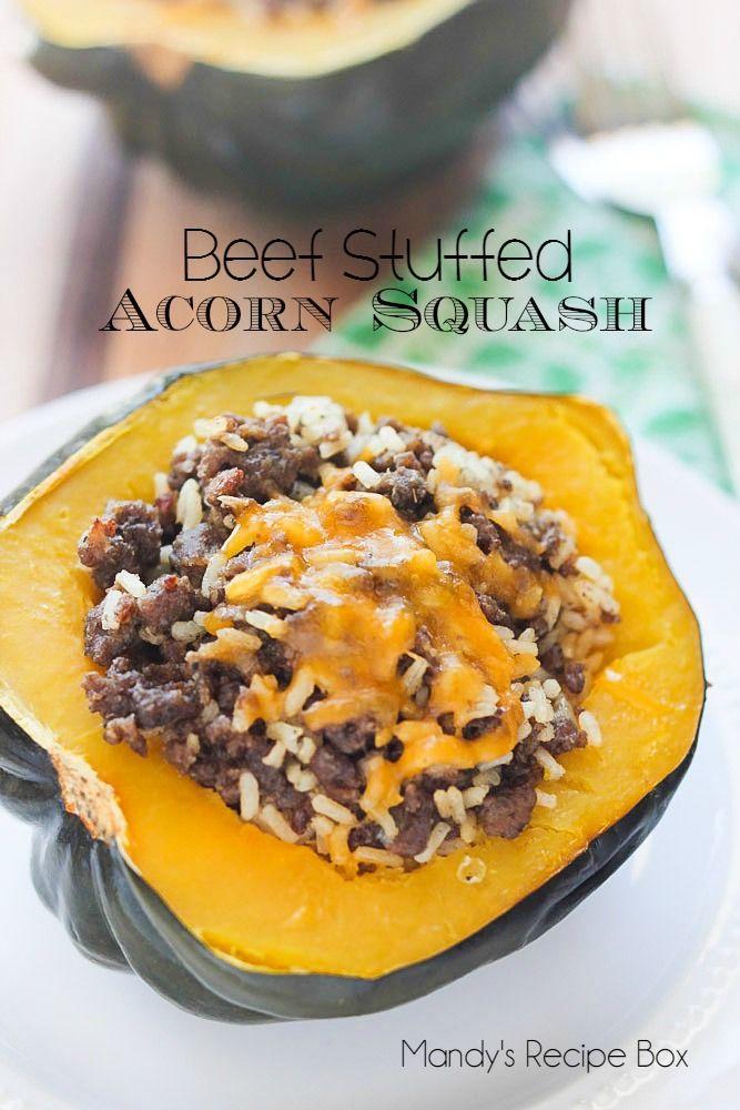 Beef Stuffed Acorn Squash Mandy S Recipe Box Recipe Acorn Squash Recipes Acorn Squash Recipes