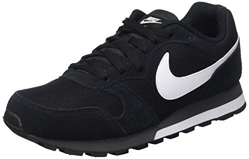 check out d27ab 834fa Nike Md Runner 2, Zapatillas de Running Hombre, Negro Blanco Gris  (Black White-Anthracite), 44