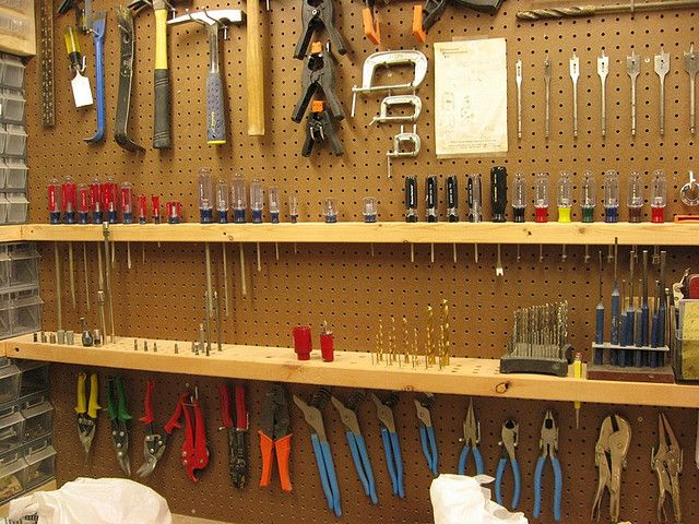 Pegboard Storage Garage Workshop Organization Garage Garage