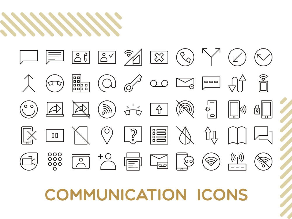 Pin On Line Style Icon