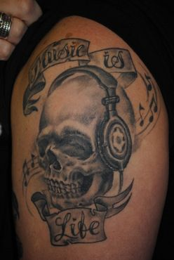 music headset tatoos pinterest. Black Bedroom Furniture Sets. Home Design Ideas