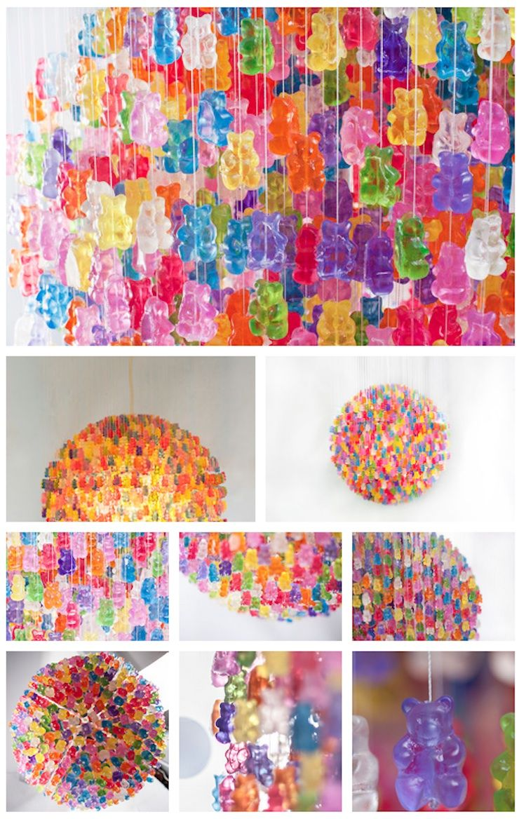 Gummy bear chandelier chandelier made from 5000 gummy bears looks gummy bear chandelier chandelier made from 5000 gummy bears looks good enough to eat arubaitofo Image collections