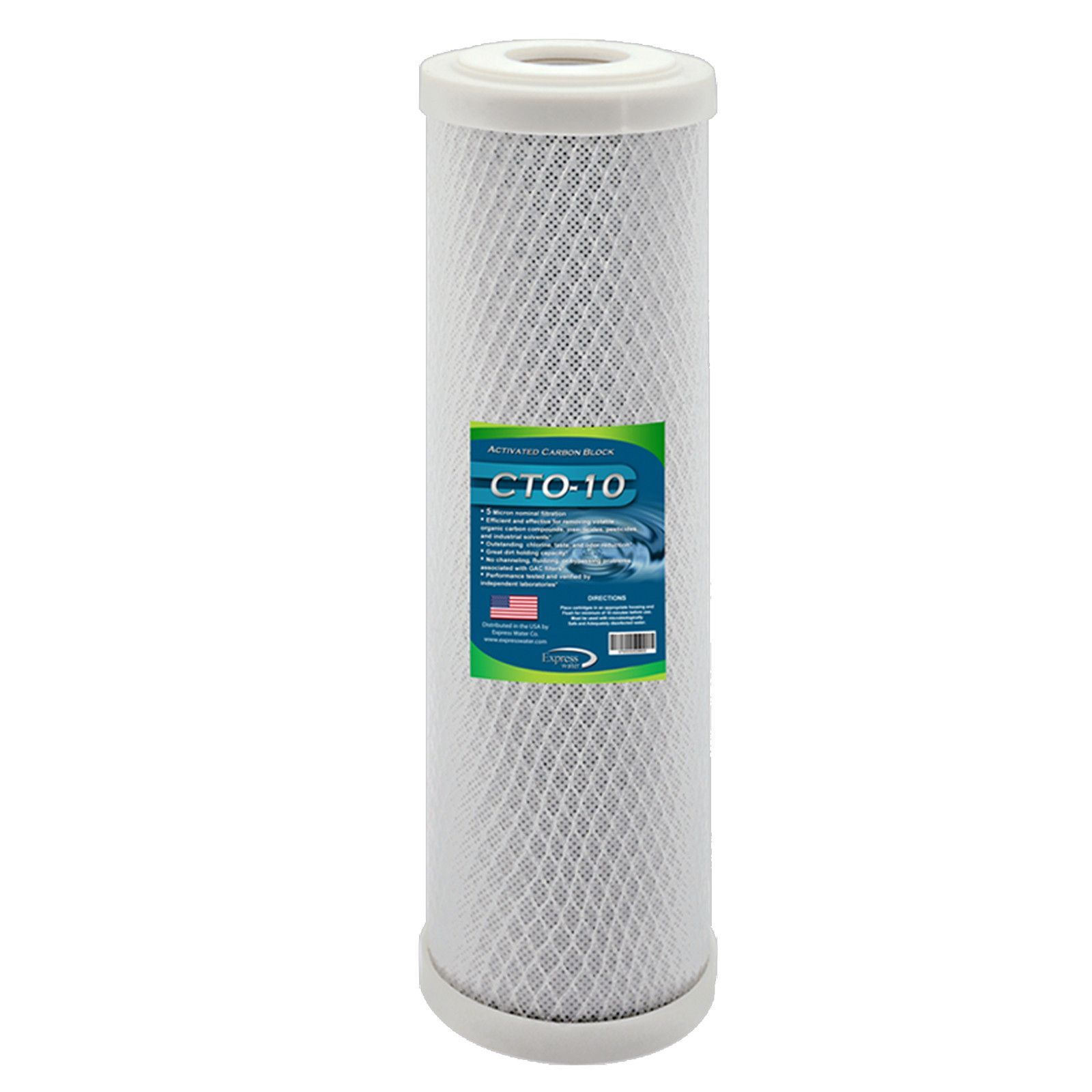 CARBON CTO Big Blue Whole House Water Filter with Block Activated Carbon, 20-Inch COCONUT