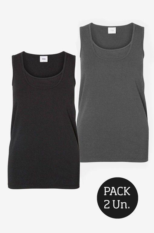 7c4f6698fce Pack de 2 Camisetas lactancia básicas tirantes - Tetatet - Camisetas de  Lactancia y Vestidos de Lactancia