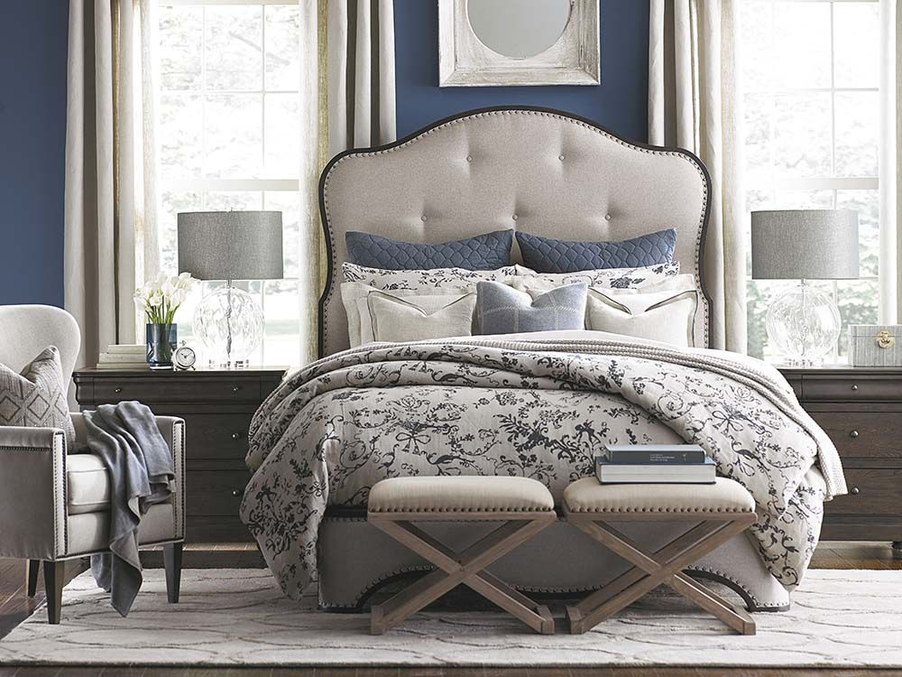 Provence Upholstered Bed French countryside, Upholstered beds and - Used Bedroom Sets