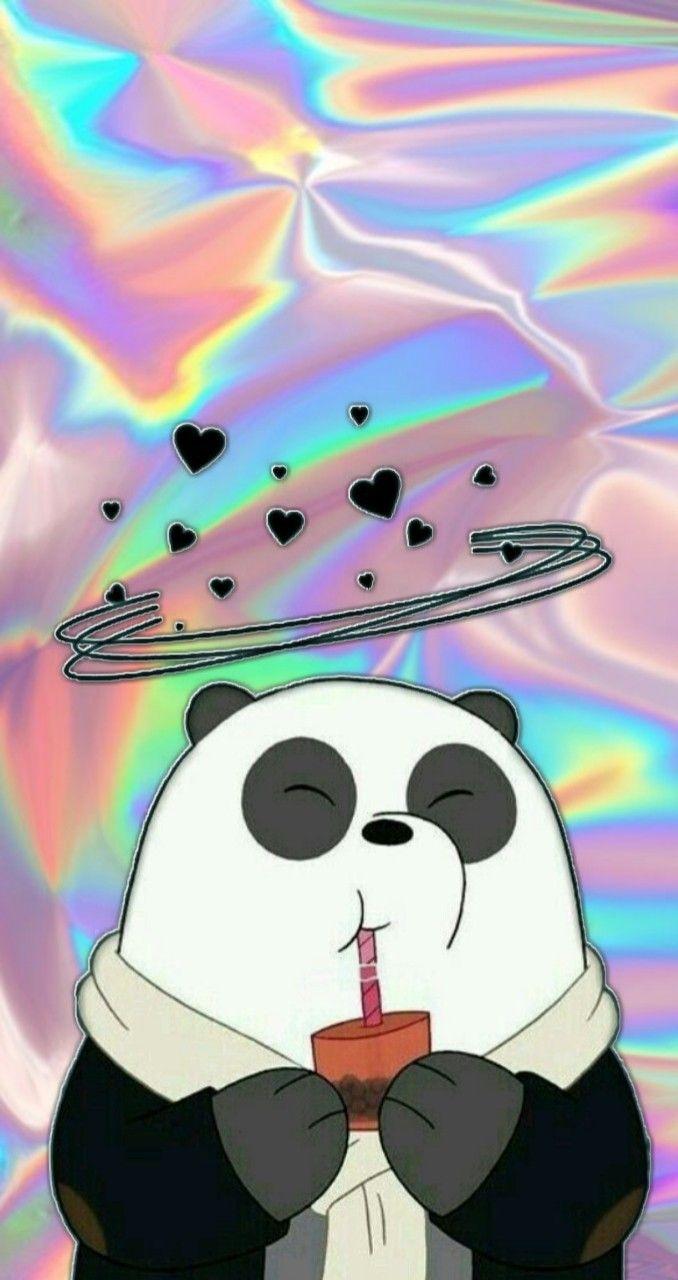 Wallpaper Cute Emoji Wallpaper From 171 We Bare Bares 187 Panda Cute Holographic