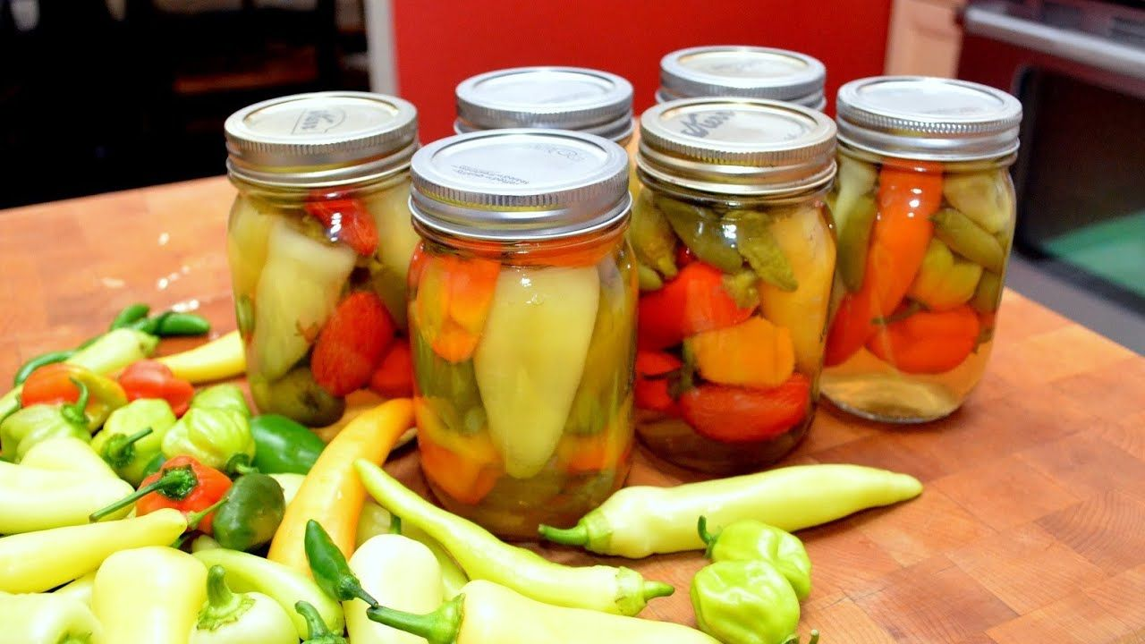 Harvesting Canning Hot Sweet Peppers Youtube In 2020 Stuffed Sweet Peppers Stuffed Peppers Canning Hot Peppers