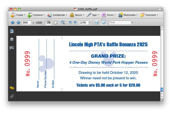 Creating Numbered Raffle Tickets with InDesign Tutorial Design - numbered raffle ticket template free