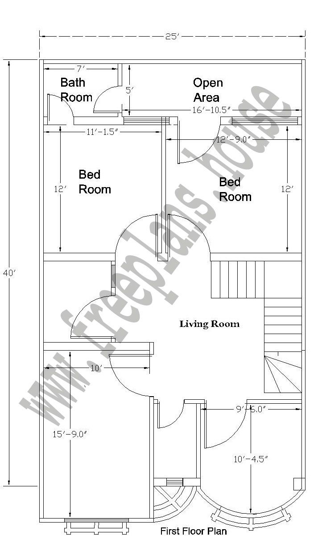 20x40 Feet First Floor Plan 20x40 House Plans