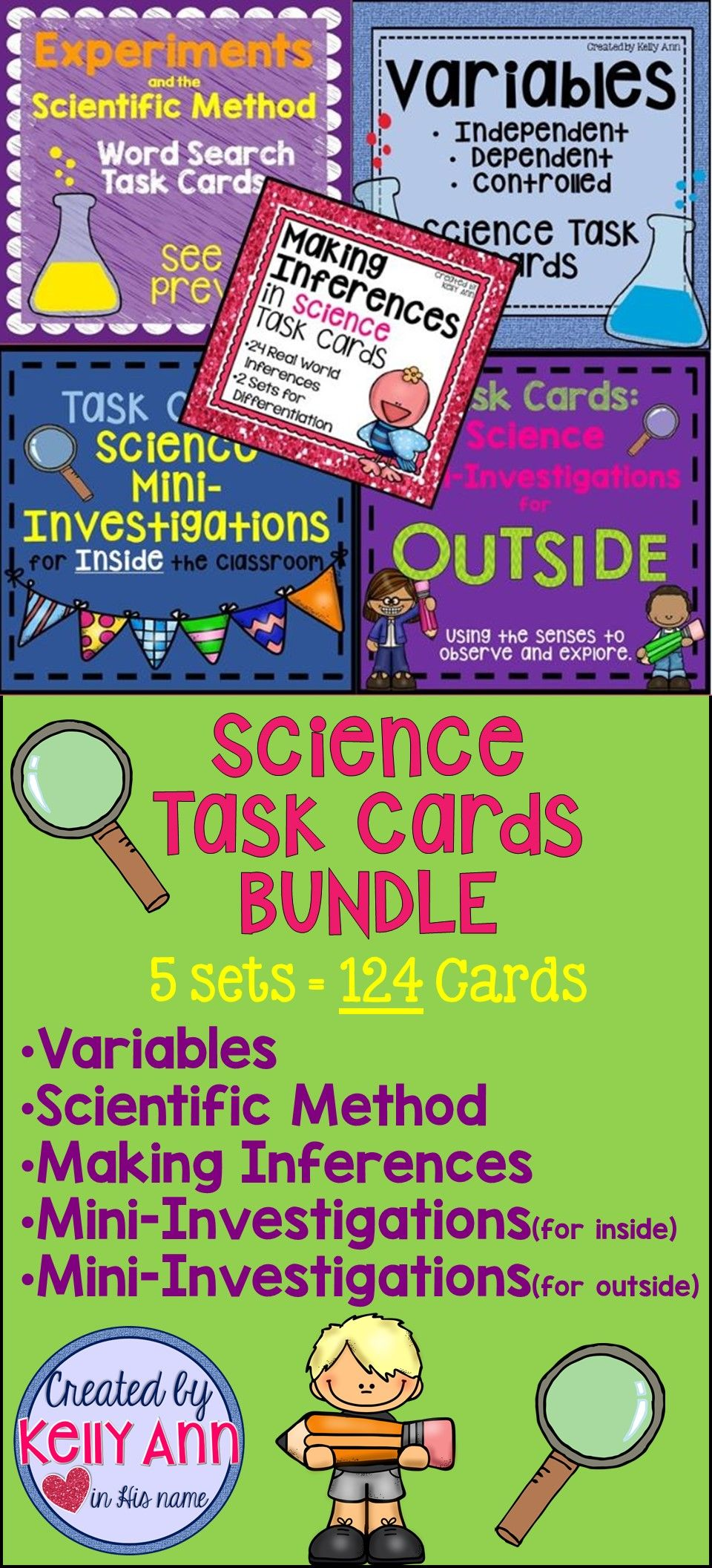 A logical grouping of SCIENCE TASK CARDS for a variety of