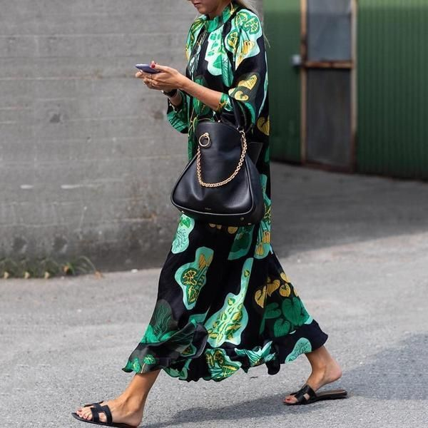 Photo of Stylish Green Floral Print Long Sleeve Maxi Dresses #Coat #C…