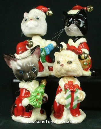 bobble head santa cats4 bobble head santa cats perfect