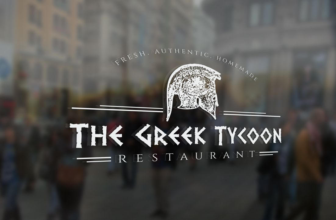 Logo creation for Greek Restaurant Serious, Masculine Logo Design by on darling homes, az homes, london bay homes, old brick homes,