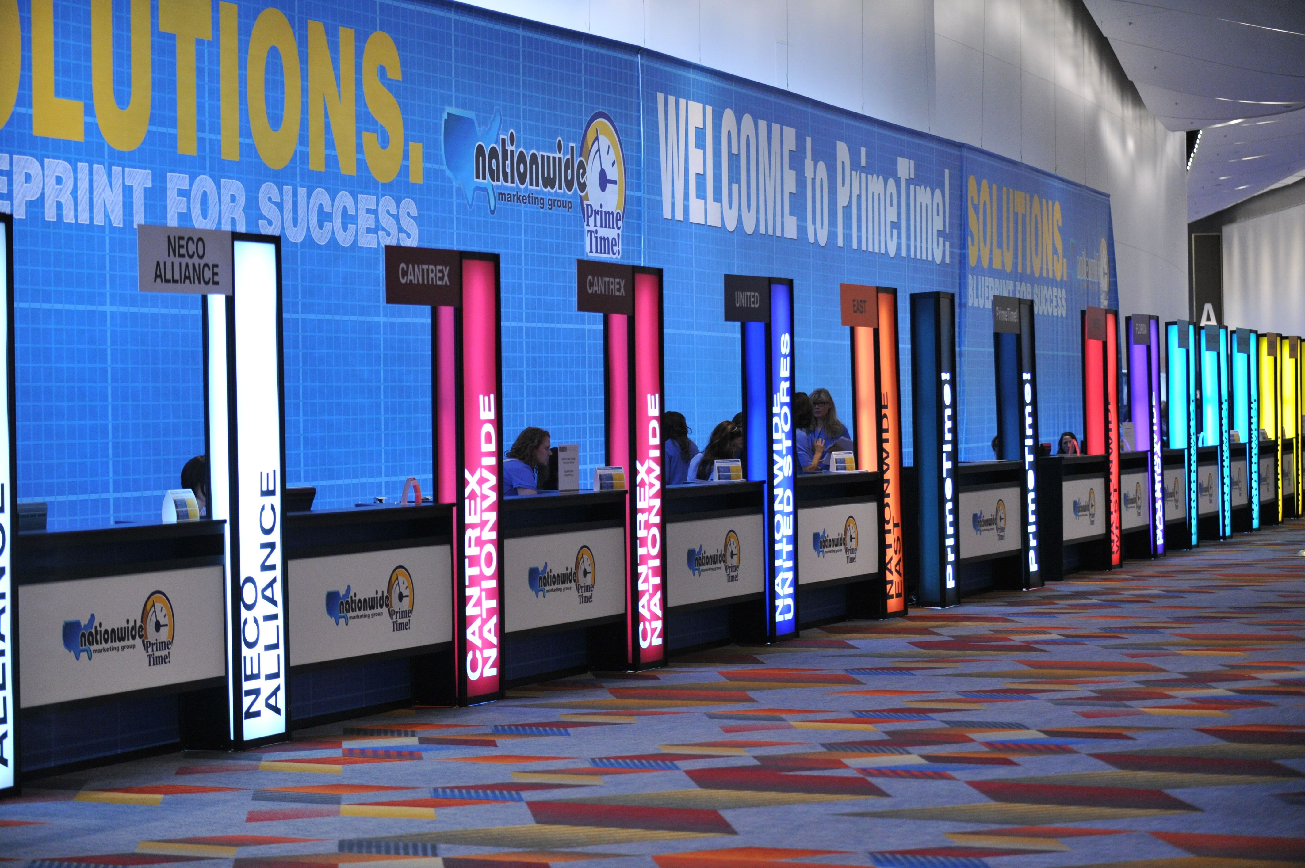 Exhibition Stand Lighting Nz : Registration counter at nationwide marketing group s
