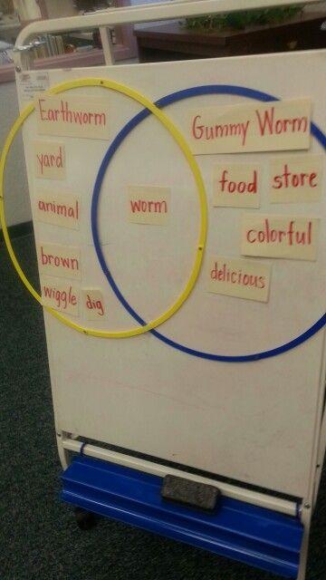Earth Worms Vs Gummy Worn Venn Diagram