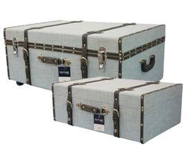 Soft Blue Texture   Collegiate Trunks Dorm Essentials Dorm Storage Solutions