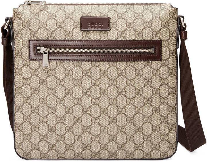 eb047414d0fba2 GG Supreme messenger | Designer Handbags | Messenger bag men, Gucci ...