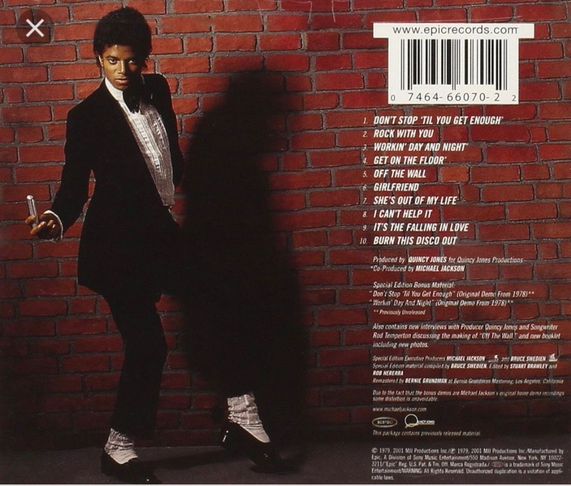 Michael Jackson Off The Wall 1st Solo Album Lp The Original