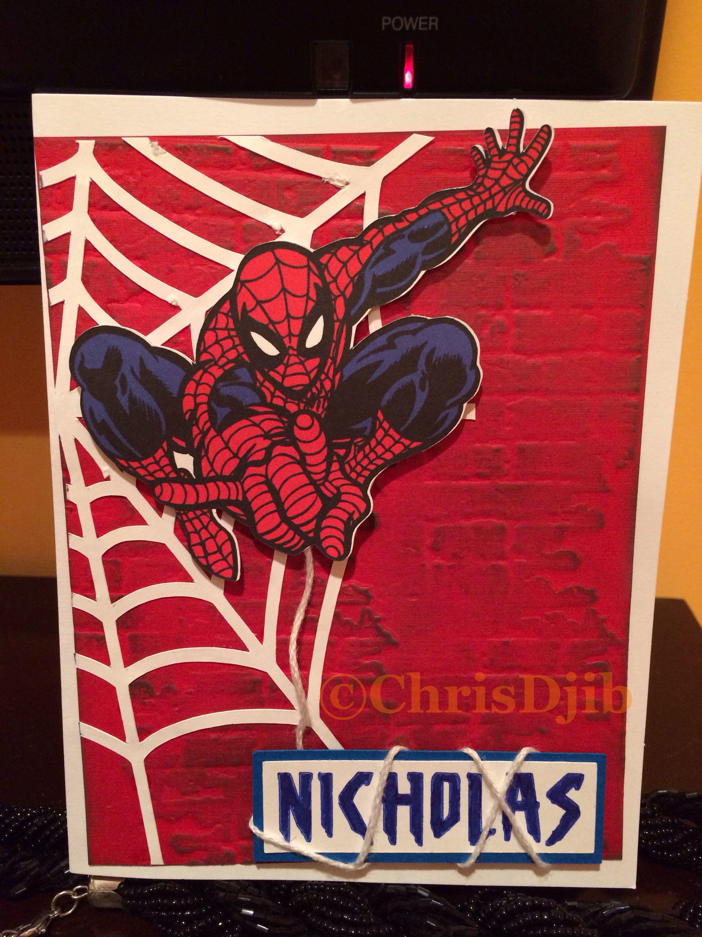 Spider Man Card Spiderman Cards Birthday Cards Diy Kids Birthday Cards