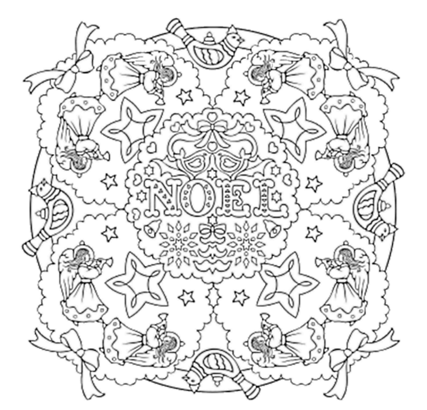 Mandala 734 Christmas Mandalas Coloring Book By Marty