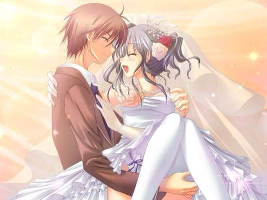 Anime Couple Getting Married So Cute