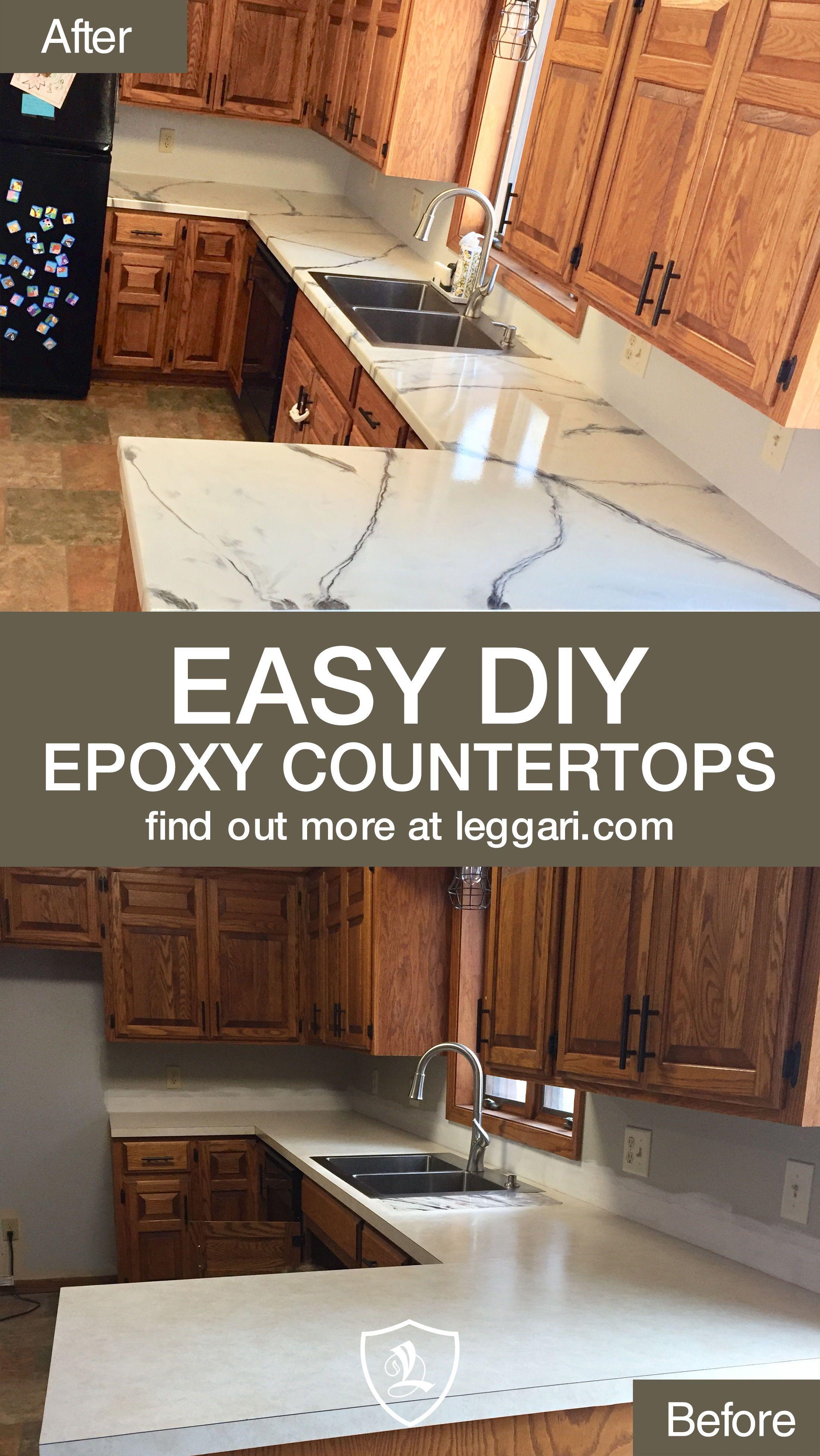 Diy Epoxy Arbeitsplatten Und Boden Mit Leggari Produkten Geben Sie Ihrer Kuche Eine Renovierung Sie Konnen Vorhande In 2020 Arbeitsplatte Kuchenarbeitsplatte Laminat