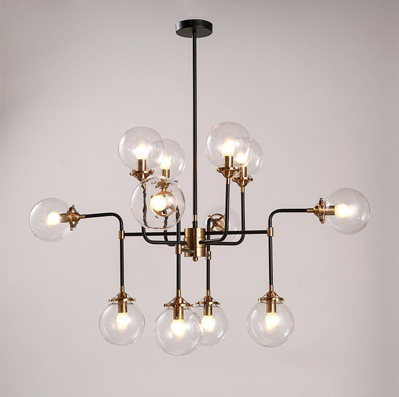 Moderne Glasschirm Kronleuchter Licht E14 Birne LED Pendelleuchte Moderne  Beleuchtung Künstlerische Kugel Bohnenstange Molekulare Kronleuchter In
