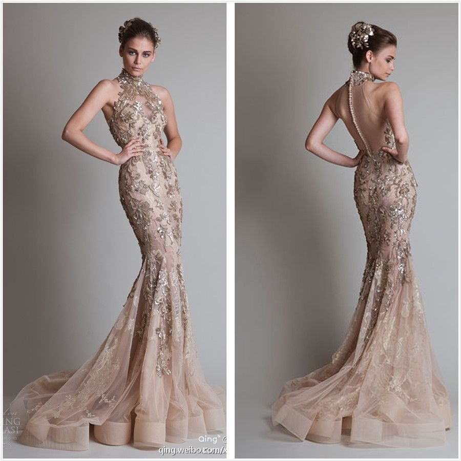 Gold high neck if i ever get married pinterest haute couture
