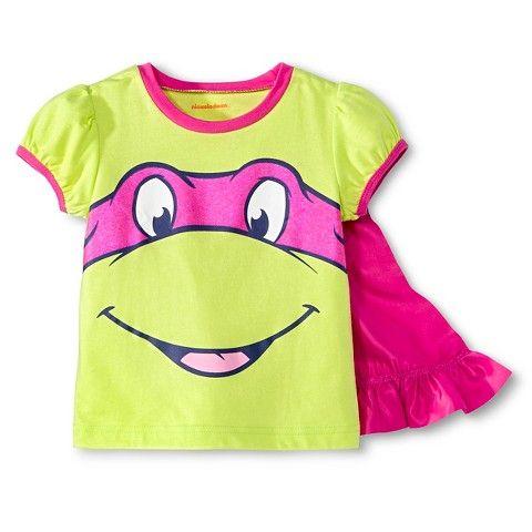 Teenage Mutant Ninja Turtles Toddler Girls Cape Tee - Green