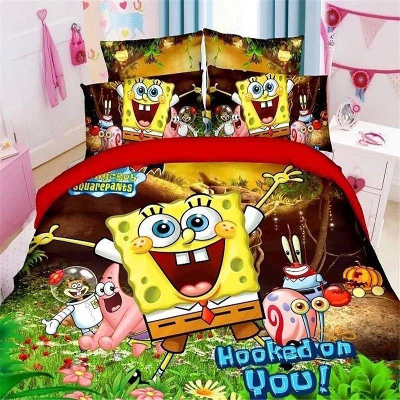 Details about Home Textiles Spongebob cartoon style