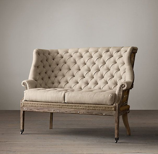 Exceptional Seating   Deconstructed C. English Wing Settee Upholstered I Restoration  Hardware   Deconstructed English Wing Settee, Deconstructed Bu.