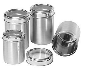 Amg Signature Series 4 Piece Stainless Steel Canister Container Box By Gandhi Appliances Stainless Steel Canister Set Stainless Steel Canisters Canister Sets