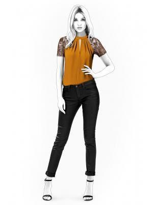 Lekala 4539 - Blouse Sewing Pattern PDF Download, Free Made to ...