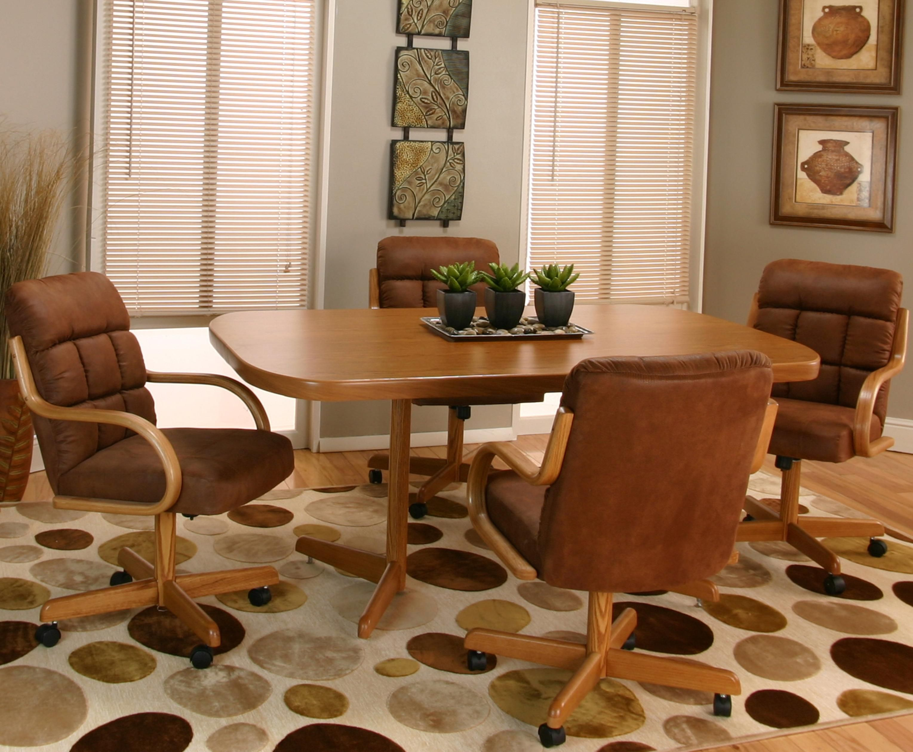 Dining Room Sets Leather Chairs Captivating Cramco Motion  Dillon Table And Chair Setcramco Inc  Marys Inspiration Design