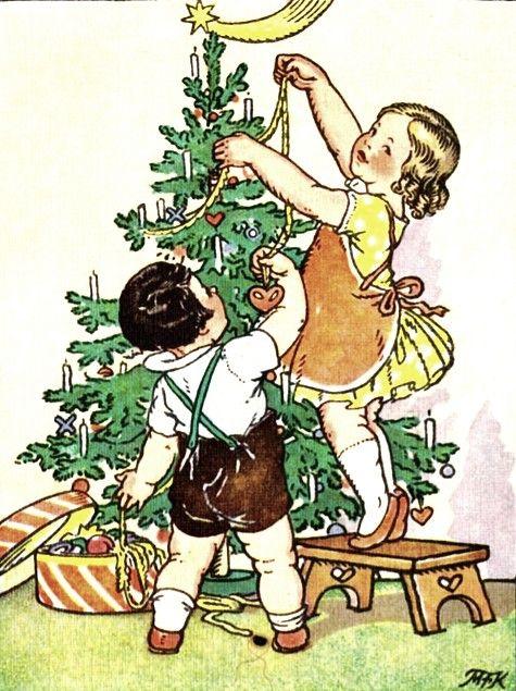 Card Verlag Weihnachtskarten.Marie Kvechova Fischerova Illustration Marie Kvechova Fischerova